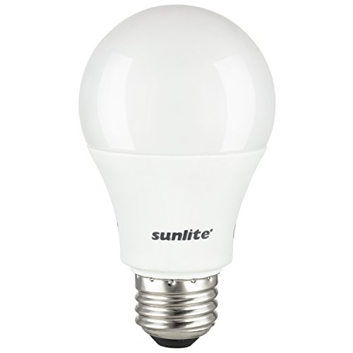 Sunlite 80718-SU A19 Standard Household Bulb LED Light, 1 Pack, 3000K-Warm (White Led Eco Led)