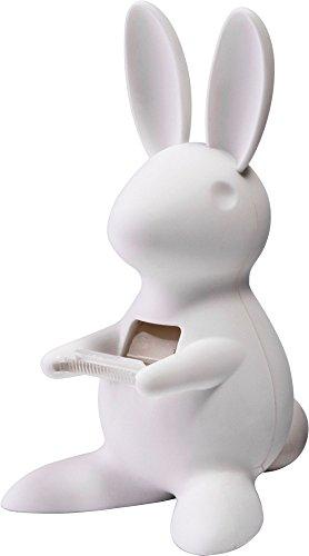 """Cute Bunny Desk Tape Dispenser for Home & Office, White, 3.7"""" x 6.6"""" x 4.4"""""""
