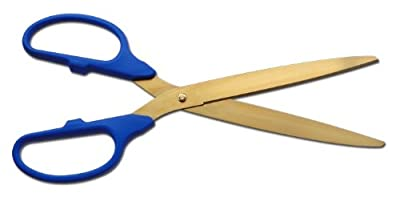 "25"" Gold Ceremonial Ribbon Cutting Scissors for Grand Openings"