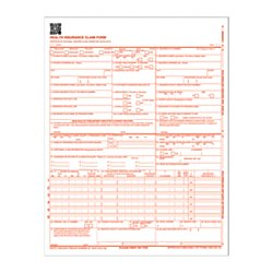 Adams(R) Health Insurance Claim Forms, 8 1/2in. x 11in, White, Pack of 250