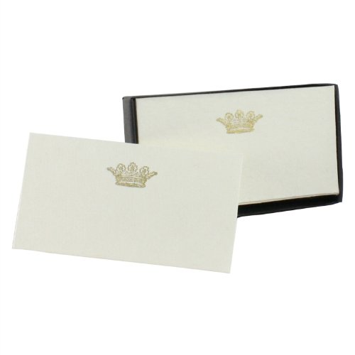 Homart Crown Printed Handmade Paper Card, Set of (Crown Stationery)
