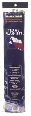 Valley Forge Texas Flag Kit 3' X 5' Steel Texas
