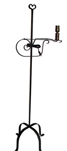 Wrought Iron Floor Lamp Heart Top - Amish Made