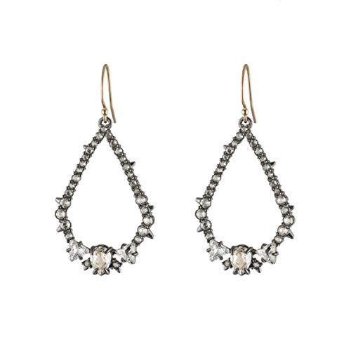 (Alexis Bittar Women's Crystal Encrusted Spike Tear Earrings, Ruthenium )