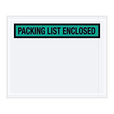 Envelopes Panel Face , Orange 1000 Per//Case 7 x 6 TapePlanet Packing List Enclosed Colored