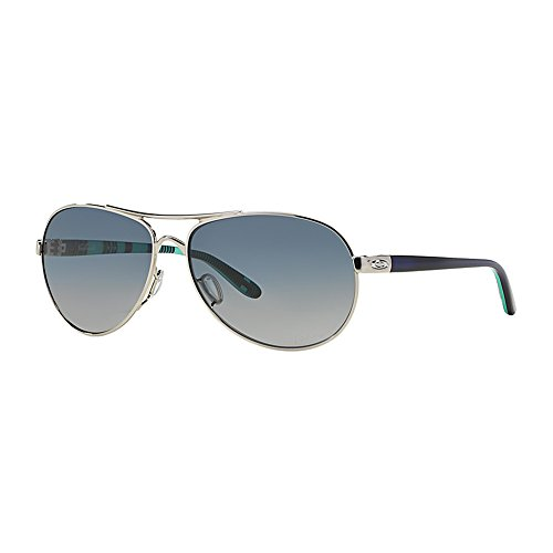 Oakley Feedback Polarized Aviator Sunglasses,Polished Chrome,59 - Wire Polarized C Oakley