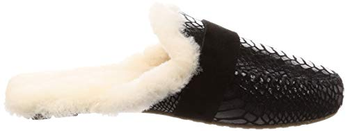 Australia EMU Slippers Black Slipper Mooka Croc Womens Sheepskin qCCdAp