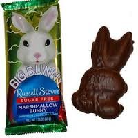 Russell Stover Chocolate covered Easter Bunny with Marshmallow filling Sugar Free