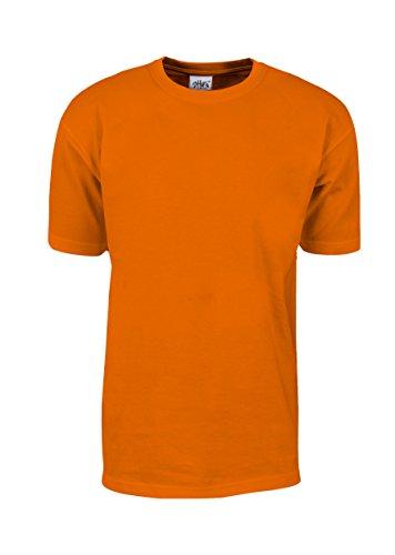 Fireman Tee Shirts (MHS15_M Max Heavy Weight Cotton Short Sleeve T-Shirt Orange M)