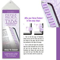 1 X Bible Index Tabs