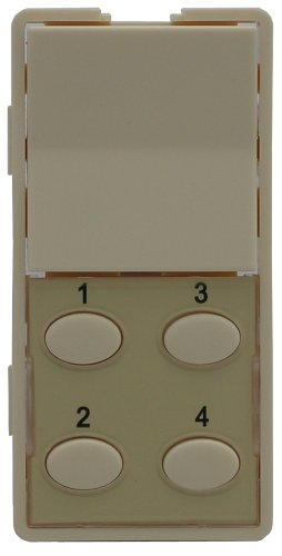5O-A Single-Rocker with Oval 4-Button Faceplate, Almond ()