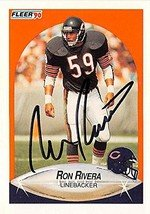 Autograph Warehouse 301910 1990 Fleer Ron Rivera Autographed No.U114 Football Card - Chicago - Ri Chicago