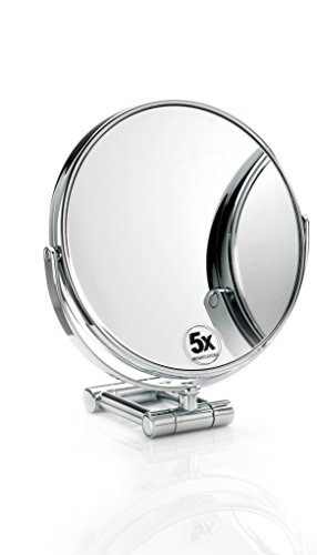Walther Round Cosmetic Table Makeup ADJ Magnifying Mirror...