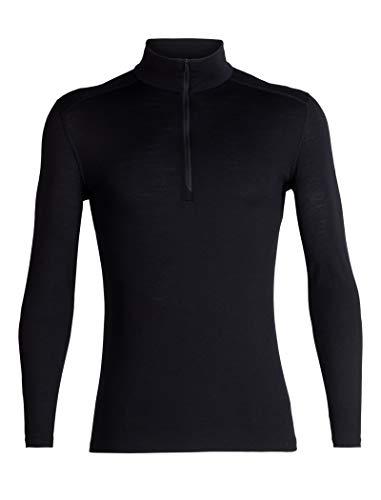 Icebreaker Oasis - Icebreaker Merino Men's 200 Oasis Long Sleeve Half Zip, Black, L