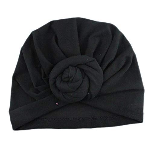 Lightclub Fashion Adult Women Newborn Baby Girl Donut Turban Hat Elastic Cotton Beanie Cap - Black Women's