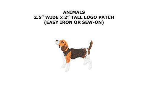 Beagle Howl Embroidered Iron/Sew-on Animal Dog Breed Theme Logo (Beagle Fan)