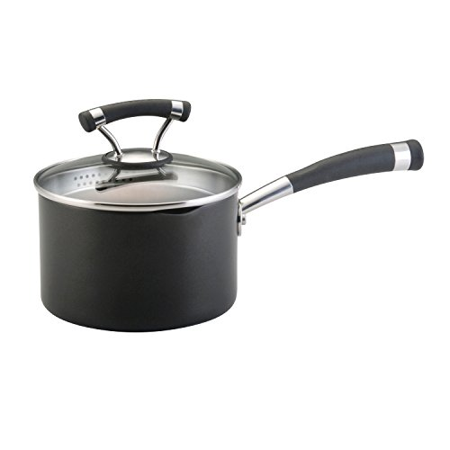 Circulon Contempo Hard Anodized Nonstick 2-Quart Covered Straining Saucepan
