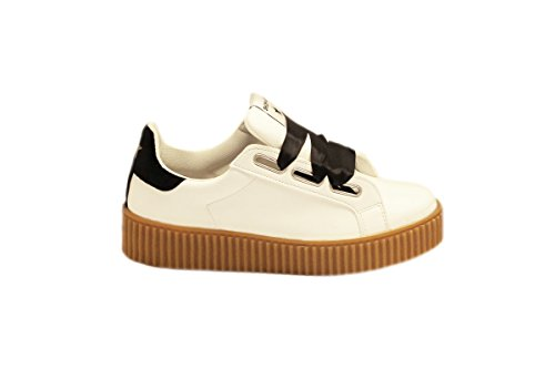 femme pour Baskets ART Bianco SHOP blanc tqUzOO