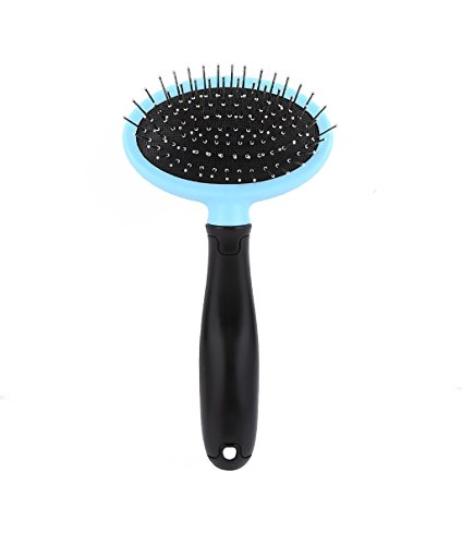 Self Cleaning Pet Slicker Brush, Pet grooming tools, Deshedding Tool For Dogs & Cats,Remove Loose Hair And Reduce Shedding by HaiMeiRui