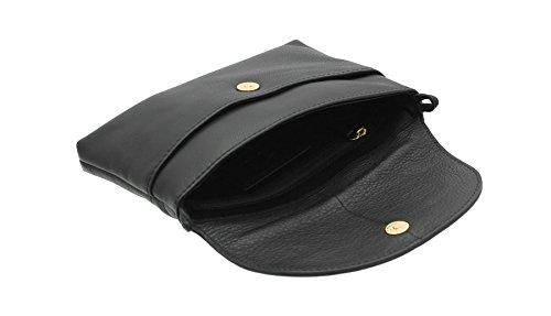 Sac Marine 8906 NAPPA Tula bandoulière à cuir ORIGINAUX Pebbled d'embrayage en Noir xORwaFYq