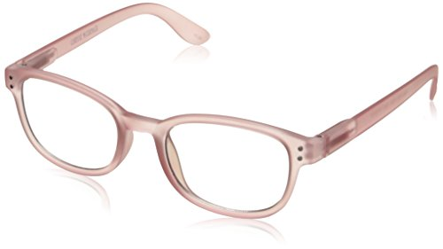 Corinne McCormack Women's Pale Pink Color Spex 1015415-000.CMC Square Reading Glasses, Pink