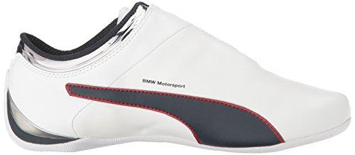 Scarpe da passeggio Bmw MS Future Cat MU da uomo, Puma White-Team Blue-High Risk Red, 13 M US