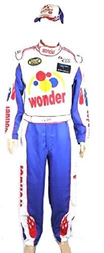 OEM Ricky Bobby Nascar Jumpsuit + Cap Full Costume Talladega Nights, Mix, X-Large