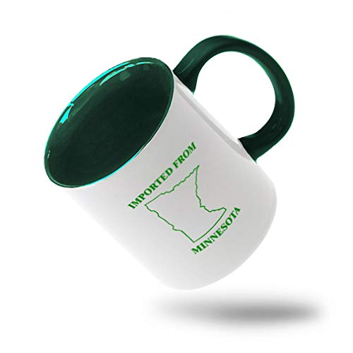 Style In Print Forest Green Imported from Minnesota Ceramic Cup Colored Mug - Green