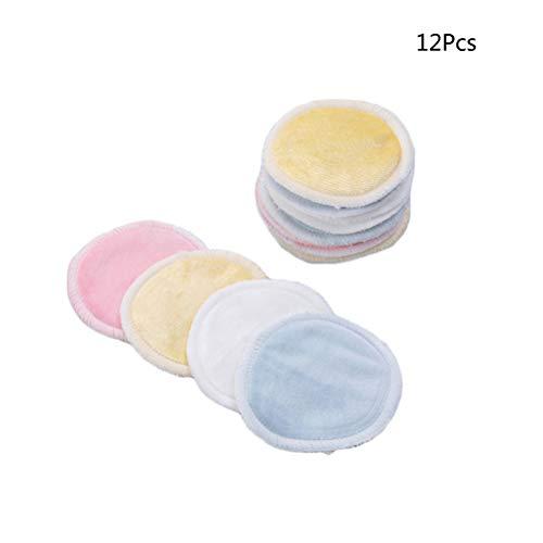 Lurrose 16 Unidades Reutilizables Almohadillas Removedoras de Maquillaje con Bolsa de Lavandería Toallas de Limpieza Facial...
