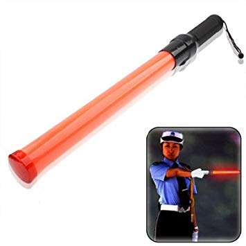 Uniqus Safety Traffic 3-Mode Control Red LED Baton with DC12V Car Charger, Length  53.5cm