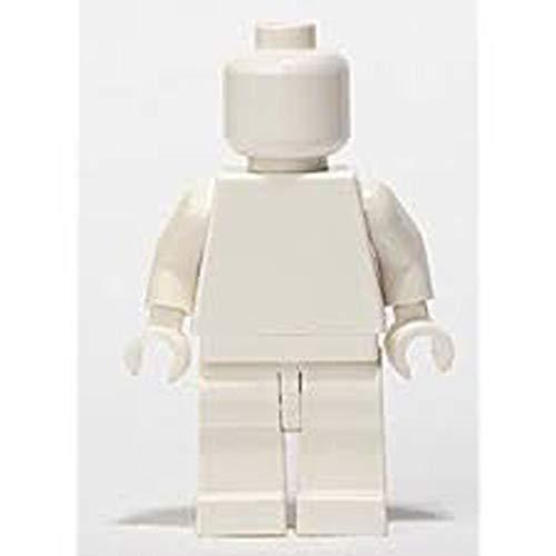- LEGO City x1 Plain White Monochrome Minifigure Head Torso Arms Hands Legs New