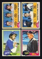 (1981 Topps Baseball Complete Near Mint 726 Card Set. Features Rookie Cards of Tim Raines, Fernando Valenzuela, Kirk Gibson and Others Plus Rickey Henderson's 2nd Year Card! Loaded with Stars Including George Brett, Nolan Ryan, Mike Schmidt, Yaz, Robin Yount, Pete Rose, Ozzie Smith and Many Others.)