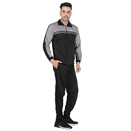 31AA%2BjITIFL. SS500  - HPS Sports Tracksuit for Men,Silver Colour Polyester Slim fit Summer Trending Casual and Gym wear Specially Designed for Athletic Body