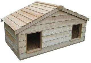 insulated cedar cat house - 7
