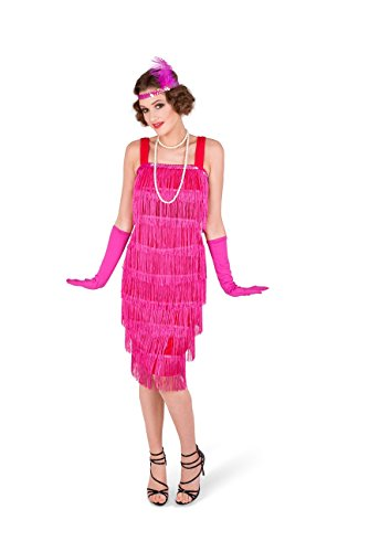 Cool Pretty Halloween Costumes (Karnival Women's Pink Flapper Costume Set - Perfect for Halloween, Costume Party Accessory. Trick or Treating (XS))