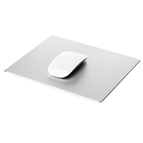 Gaming Mouse Pad Mat with Non Slip Rubber Base & Frosted Surface for Apple MacBook iMac Computer and Laptops - Aluminium ()