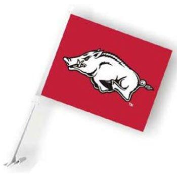 Fremont Die Arkansas Razorbacks Car Flag