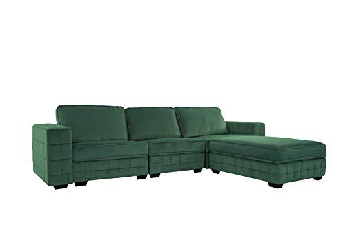 Upholstered Velvet Sectional Sofa, 111