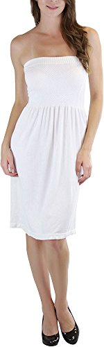 ToBeInStyle Women's Summer Tube Top Mini Dress - One Size - White ()