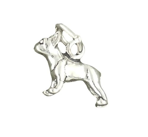 Corinna-Maria 925 Sterling Silver Boston Terrier Dog Charm Mini