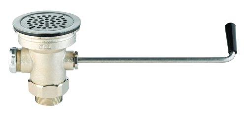 t&s brass b-3950-sb residuos válvula de drenaje, giro mango, 3–1/2-inch x 2-inch y adaptador de 1–1/2-inch y...