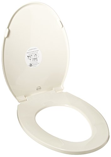 Bemis 1800EC 346 Toilet Seat with Easy Clean & Change Hinges, ELONGATED, Biscuit/Linen