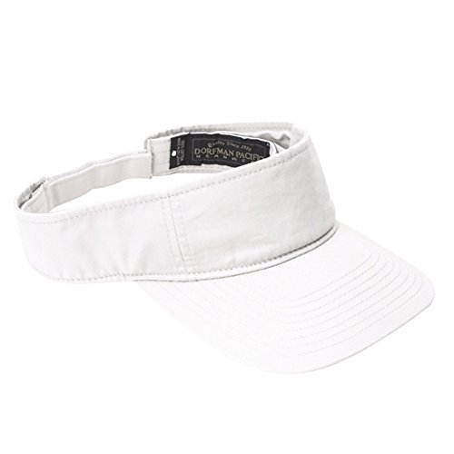 Dorfman Pacific Co. Men's Garment Washed Twill Visor, White, One Size