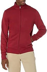 Amazon Essentials mens Full-Zip Fleece Mock Neck Sweatshirt Sweatshirt