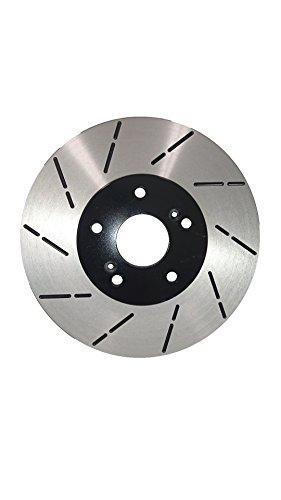 Duraplus [Front Premium E-Coat Slotted Brake Rotors Ceramic Pads] Fit 97-01 Honda (01 Slotted Brake Rotors Pads)
