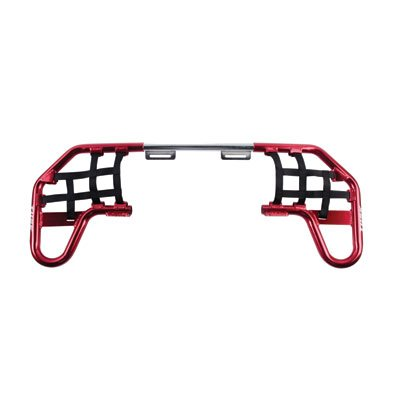 Tusk Comp Series Nerf Bars- RED With Black Webbing - For HONDA TRX 250EX 250X 2001-2018 - Includes spark plug (Honda Nerf Bars)
