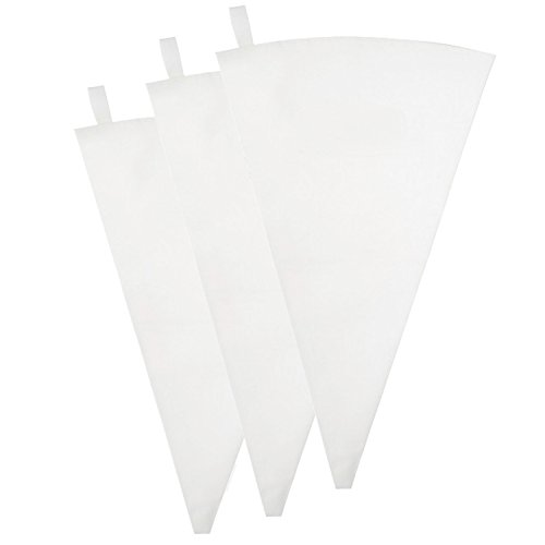 Pridebit Pastry Bag [3 Pack] (18-Inch) Reusable Cotton Decorating Icing Bags Set Large Piping Bags