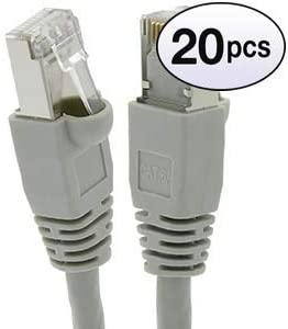 26AWG Network Cable with Gold Plated RJ45 Molded//Booted Connector 550MHz Gray GOWOS Cat6a Shielded Ethernet Cable 10 Gigabit//Sec High Speed LAN Internet//Patch Cable 4-Pack - 7 Feet