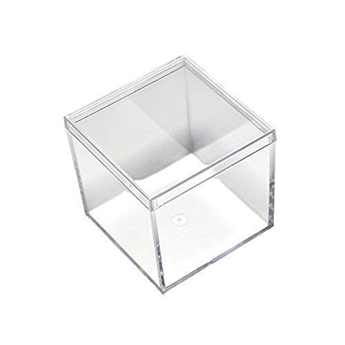 Nippon regular agency Fulemay Small Clear Acrylic Candy Boxes inches Los Angeles Mall Case Cube 2×2×2 4