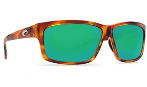 Costa Del Mar Sunglasses - Cut- Plastic / Frame: Honey Tortoise Lens: Polarized Green Mirror Wave 400 Glass